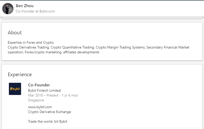 bybit bitcoin derivatives platform team
