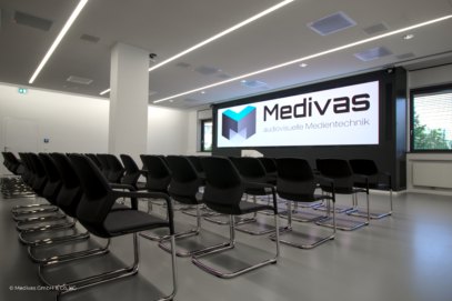 Videokonferenzraum, den Medivas für das Münchner Leukämielabor geschaffen hat
