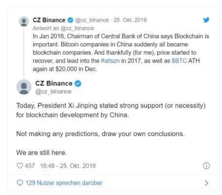 """Bitcoin, """"Chinas Twitter"""" kickt Bitcoin-Börse Binance von der Plattform – Ist """"CZ"""" zu weit gegangen?"""