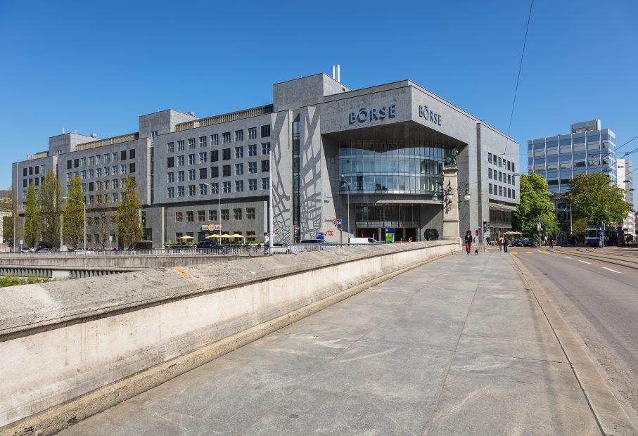 Gebäude der Schweizer Börse SIX